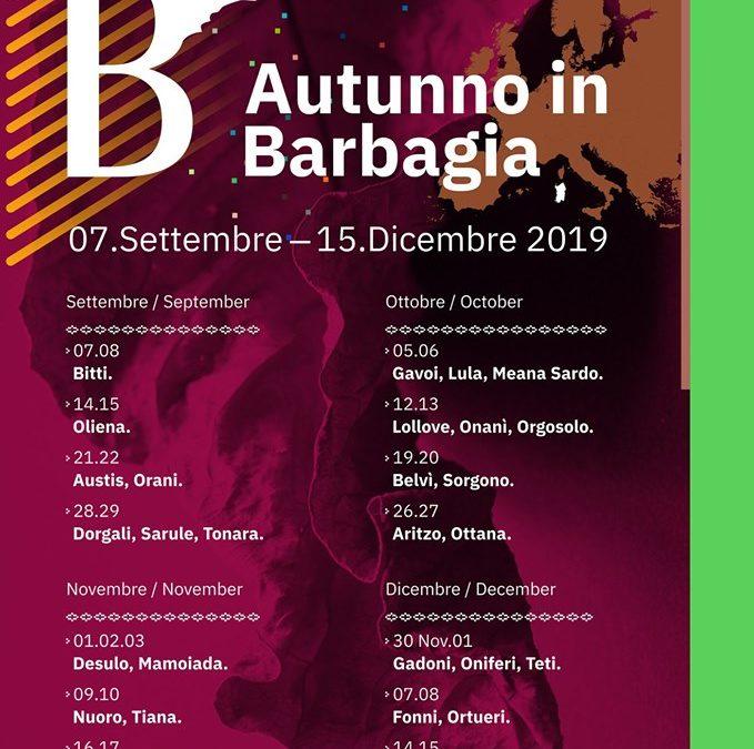 Autunno in Barbagia 7 settembre – 15 dicembre 2019