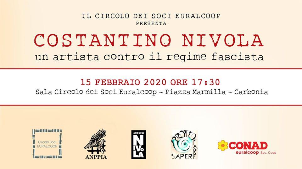 Costantino Nivola – Un artista contro il regime fascista 15 febbraio  2020 Carbonia