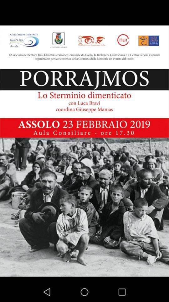 Assolo: Porrajmos. Lo sterminio dimenticato con Luca Bravi 23 febbraio 2019