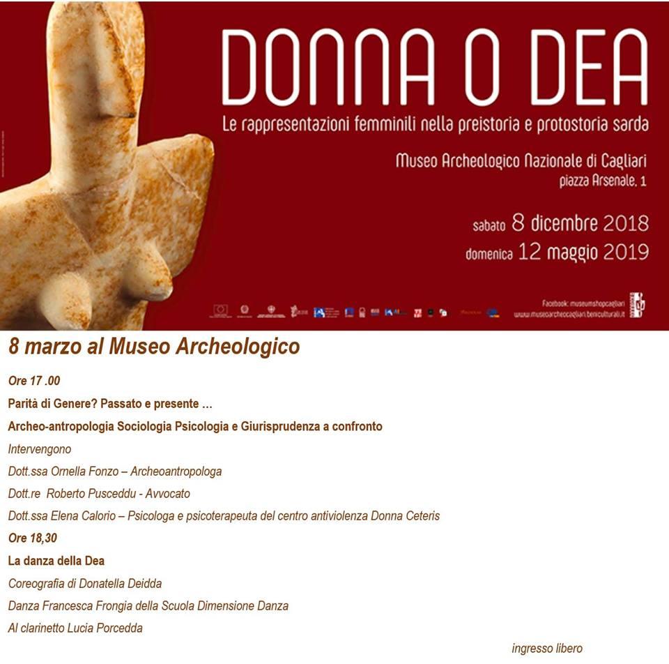 Parita' DI Genere 8 marzo 2019 Museo Archeologico Cagliari