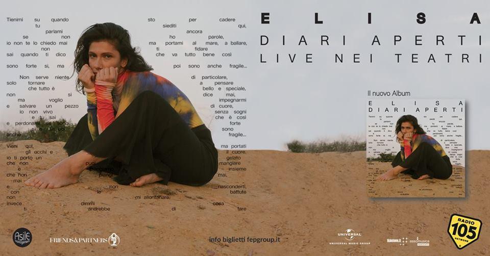 Elisa in concerto a Cagliari 18 maggio 2019