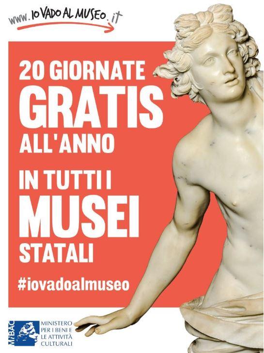 Musei statali gratis 20 giorni all'anno