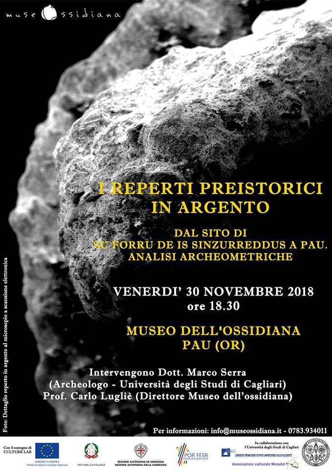Reperti Preistorici in Argento – Su Forru de Sinzurreddus – Pau 30.11.2018